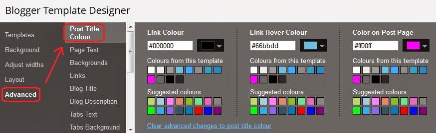 Blogger-post-title-color