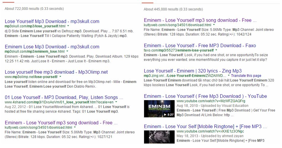 mp3-search-engine-results