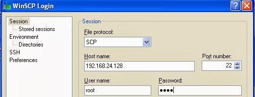 SCP login